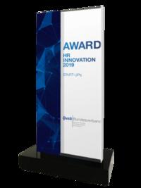 """Der """"Queb HR Innovation Award 2019"""" wird für herausragende Innovationen im Bereich Employer Branding, Personalmarketing, Recruiting und HR verliehen."""